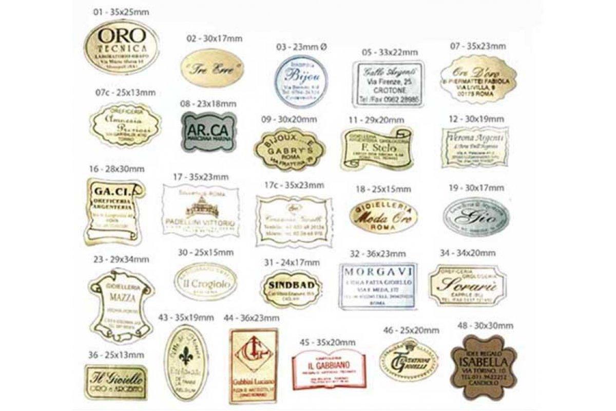 Serie 9150 Etichette adesive personalizzate